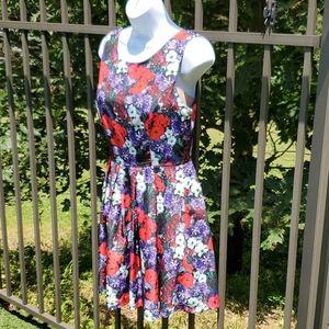 Forever 21 Multi-Color Flower Dress